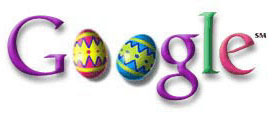 On Easter weekend, Google displayed this logo